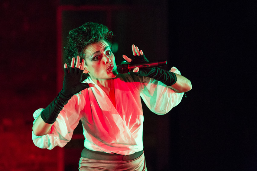 Dynasty Handbag, I Never Were Again, A Concert at Gibney Dance Center, NY (2015) (performance still). Image courtesy of the artist. Photo: Scott Shaw.