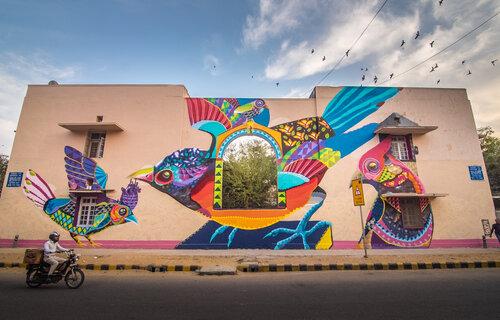The Lodhi Art District, New Delhi. Artist: Senkoe