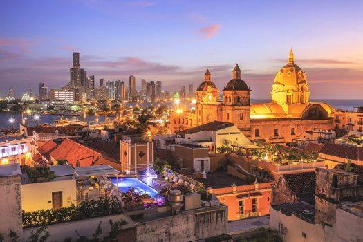 Cartagena Colombia at night
