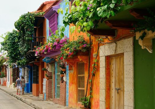 The colourful streets of Cartagena, Colombia
