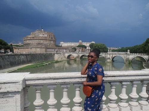 Girl gone global - Ogo Okafor in Rome, Italy