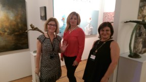 Artists Leslie Nolan and Gulten Imamoglu with Gallery NK owner/artist Nihal Kececi
