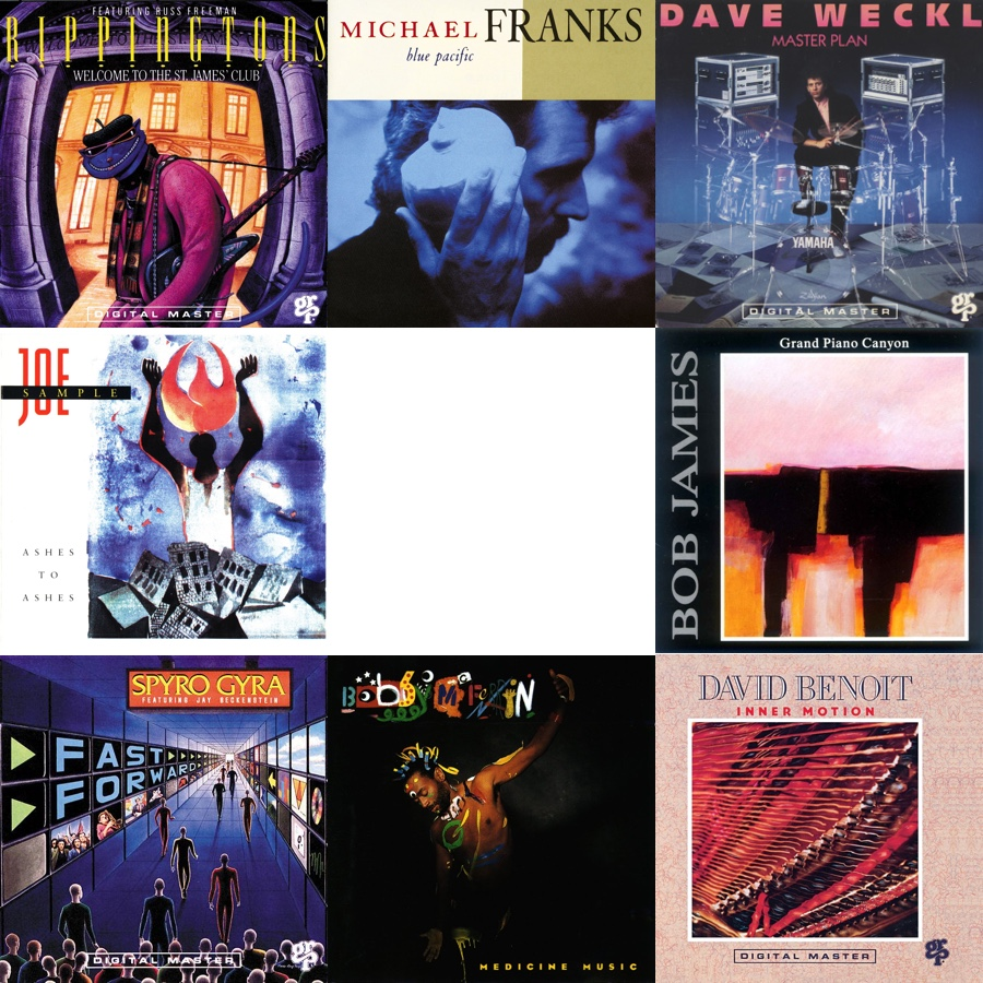 montage of album covers from 1990 contemporary jazz releases