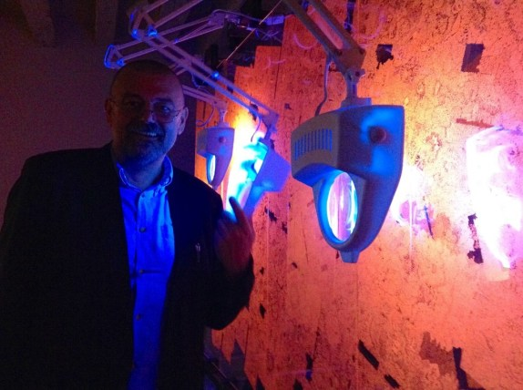 """Andrzej Bednarczyk, author of the installation """"Great Collider Of World's Navels II, 2013, Pavilion 0, photo Lynx"""