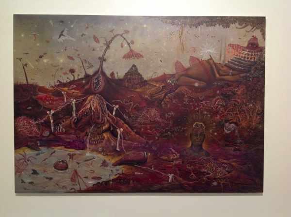 Jakub Julian Ziółkowski, Bestiary, 2013, oil on canvas, Il Palazzo Enciclopedico, Arsenale, Venice Biennale 2013, photo Lynx