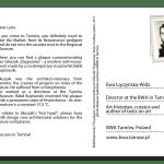 PostcART: Ewa Łączyńska – Widz, Director at the BWA Gallery in Tarnów sent a postcard to Lynx