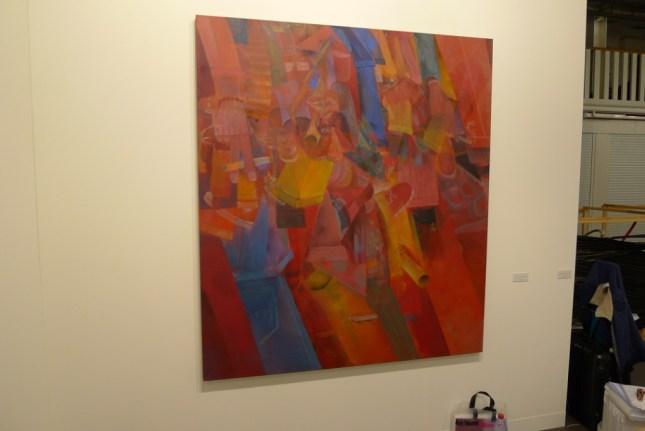 Tomasz Kowalski, Untitled (red), 2013 170 x 150 cm, carlier gebauer, Hall 2.1 / H3, photo Andrzej Szczepaniak for Contemporary Lynx