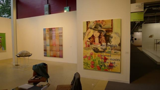 Paulina Ołowska, Her English Is Far From Perfect..., 2013, oil on canvas, 199.8 x 149.5 cm, Simon Lee Gallery, Hall 2.1 / L7, photo Andrzej Szczepaniak for Contemporary Lynx