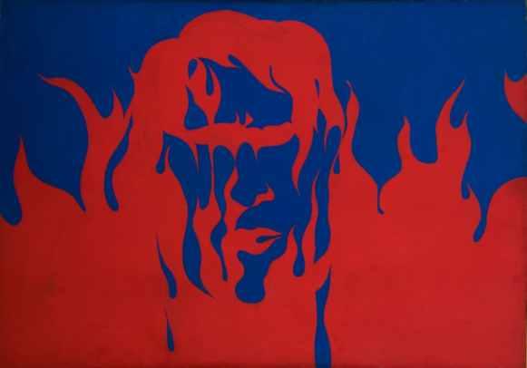 """Jerzy """"Jurry"""" Zieliński (1943-1980) Goracy, (Hot), 1968 Oil on canvas 149 x 199.5 cm collection of Zachęta - National Gallery of Art, Warsaw, image: courtesy of Galeria Zderzak, Krakow"""