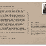 PostcART: MARY CERUTI – AN EXECUTIVE DIRECTOR AND CHIEF CURATOR AT SCULPTURE CENTER