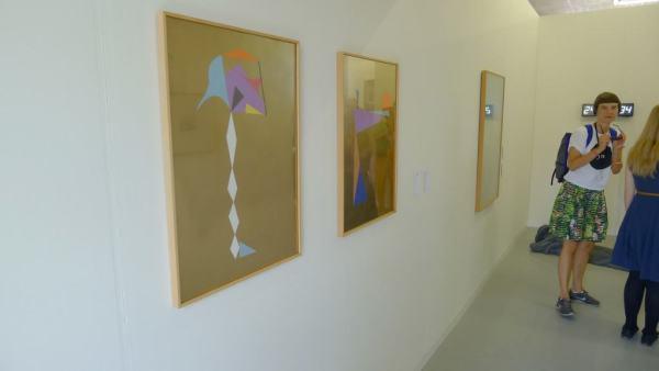 Łukasz Jastrubczak, Flags in the Desert, 2011-2012, collage, paper, golden spray, 50 x 80 cm, Dawid Radziszewski Gallery, Booth 3/8/2, photo Andrzej Szczepaniak for Contemporary Lynx