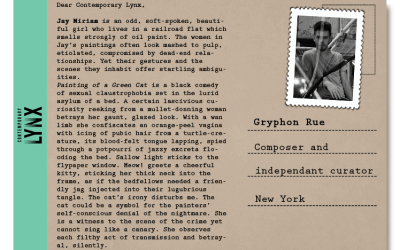 PostcART: GRYPHON RUE – COMPOSER AND INDEPENDANT CURATOR