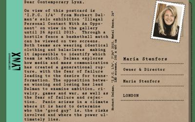 PostcART: MARIA STENFORS SENT US A POSTCARD
