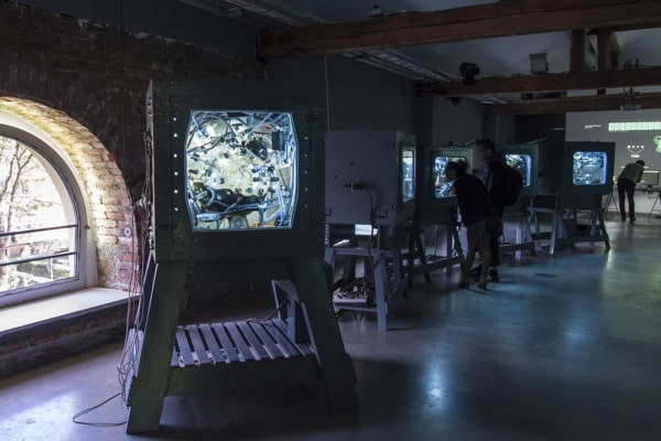 Jarosław Czarnecki (aka Elvin Flamingo), 'The Symbiosity of Creation', photo Contemporary Lynx, WRO Art Centre, part of The 16th Media Art Biennale WRO, Wrocław, 2015