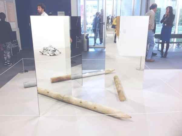 Alicja Kwade, Light Transfer of Nature, 2015, mirrors, wood, concrete, brass, aluminum, granite, 303 Gallery, photo Contemporary Lynx