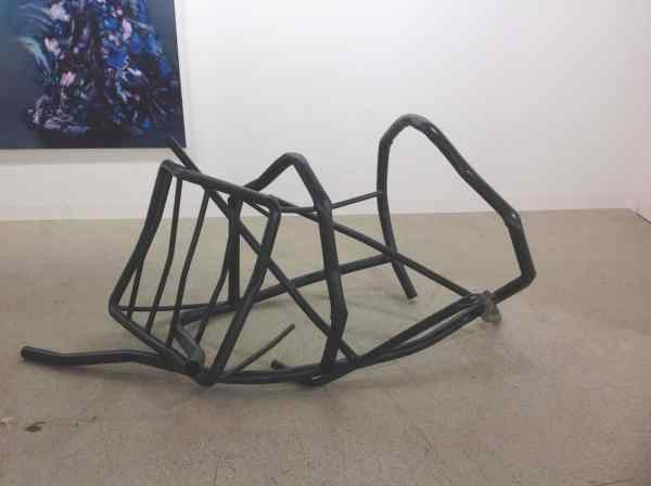 Monika Sosnowska Untitled, 2015, steel, lacquer, 92 x 196 x 130 cm, Gisela Capitain Gallery, photo Contemporary Lynx
