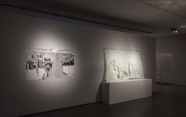 Gustav Metzger, Exhibition view in the Centre of Contemporary Art Znaki Czasu in Toruń, 2015, photo Wojciech Olech