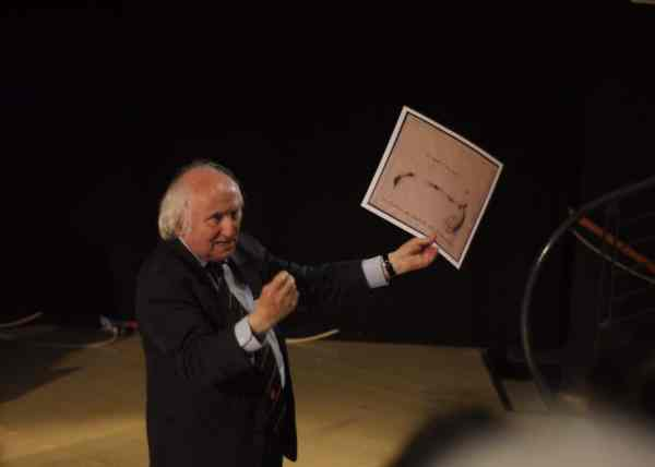 Richard Demarco, Tadeusz Kantor in Teatro Junghans, Venice, 2015, photo Contemporary Lynx