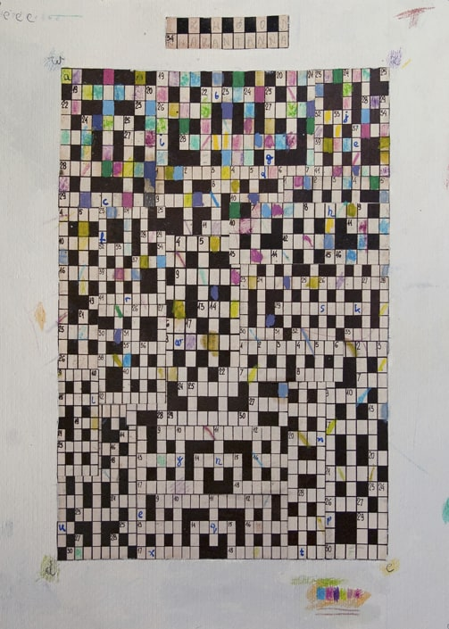 Mateusz Szczypiński, Crossword, 46x38 cm, 2014, photo courtesy the artist and lokal_30