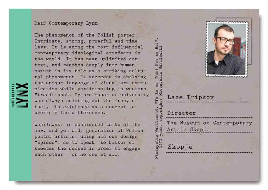 Laze Tripkov postcart Skopje