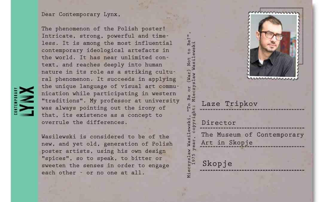 PostcART: LAZE TRIPKOV SENT US A POSTCARD