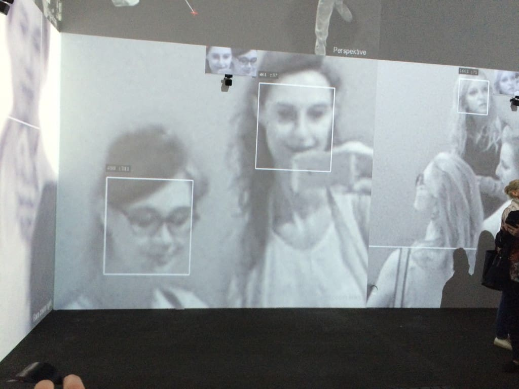 "Rafael Lozano-Hemmer and Krzysztof Wodiczko, ""Zoom Pavilion"", Art Unlimited, Art Basel 2016, photo Contemporary Lynx"