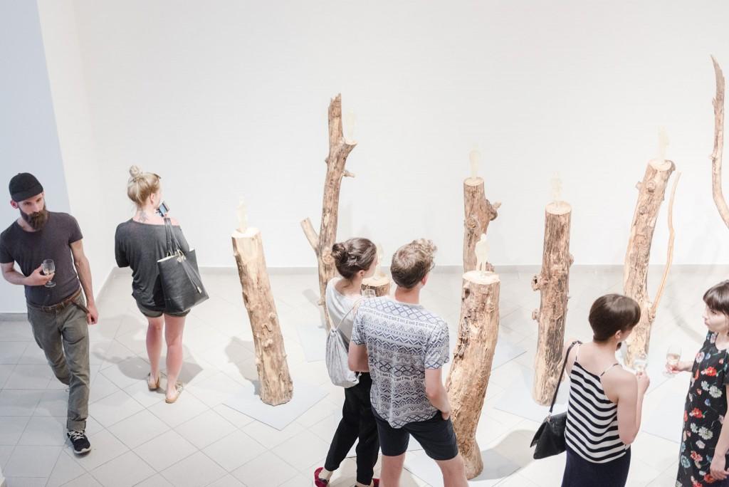 "Zuzanna Janin, exhibition view: ""Mapping Memory"", Platan Gallery, Budapest, photo: Hegyháti Réka / Platan Galéria"