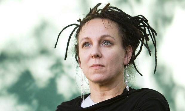 Looking to the future... Olga Tokarczuk, Photograph Murdo Macleod for the Guardian