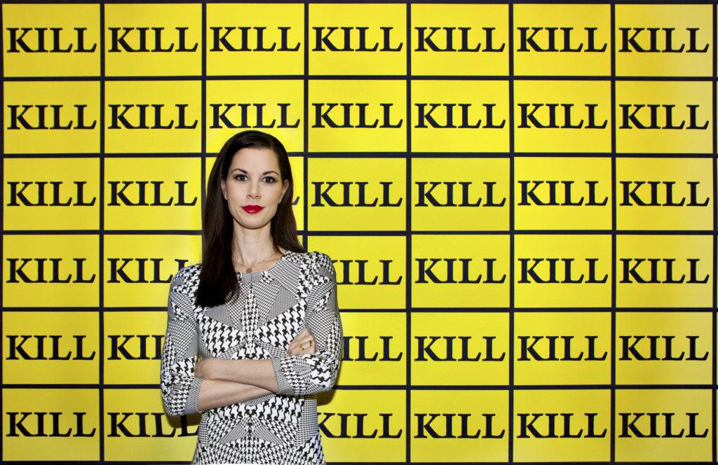 Julia Stoschek, with Kill-Wallpaper, (2003) by Sturtevant. Photo courtesy Şirin Şimşek. Contemporary Lynx what to read