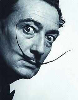Dalí's awesome moustache