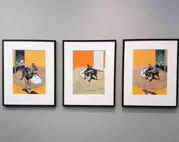 Francis Bacon, Miroir de la Tauromachie, 1990, image Contemporary Lynx, Frieze Masters 2017