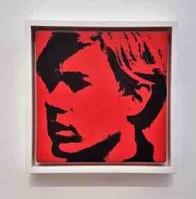 Andy Warhol, Self-portrait, 1967, Van De Weghe Fine Art, image Contemporary Lynx, Frieze Masters 2017
