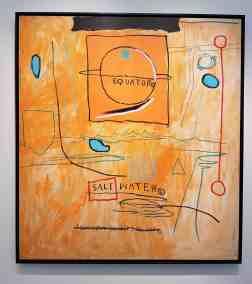 Jean Michel Basquiat, Big Sun 1984,  Van de Weghe Fine Art, image Contemporary Lynx, Frieze Masters 2017