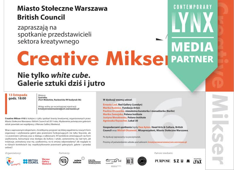 """CREATIVE MIKSER #16: Not just a """"white cube"""". Art galleries today and tomorrow"""