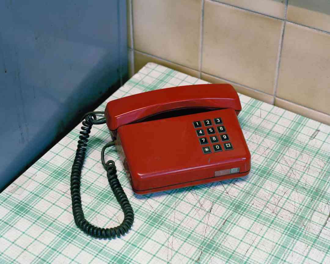Darek Fortas, Still Life VI (Red Telephone), from the series 'Coal Story'; (2011), Courtesy the artist.