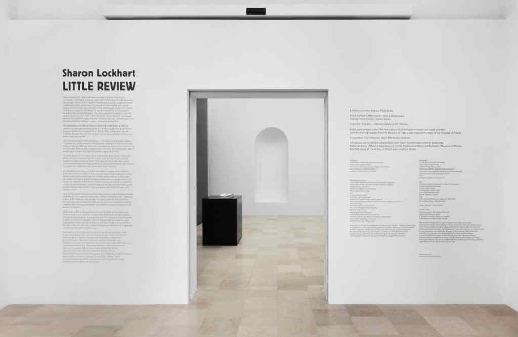 Sharon Lockhart, Little Review, Polish Pavilion, 57. Venice Biennial, 2017, exhibition view, photo: Jens Ziehe