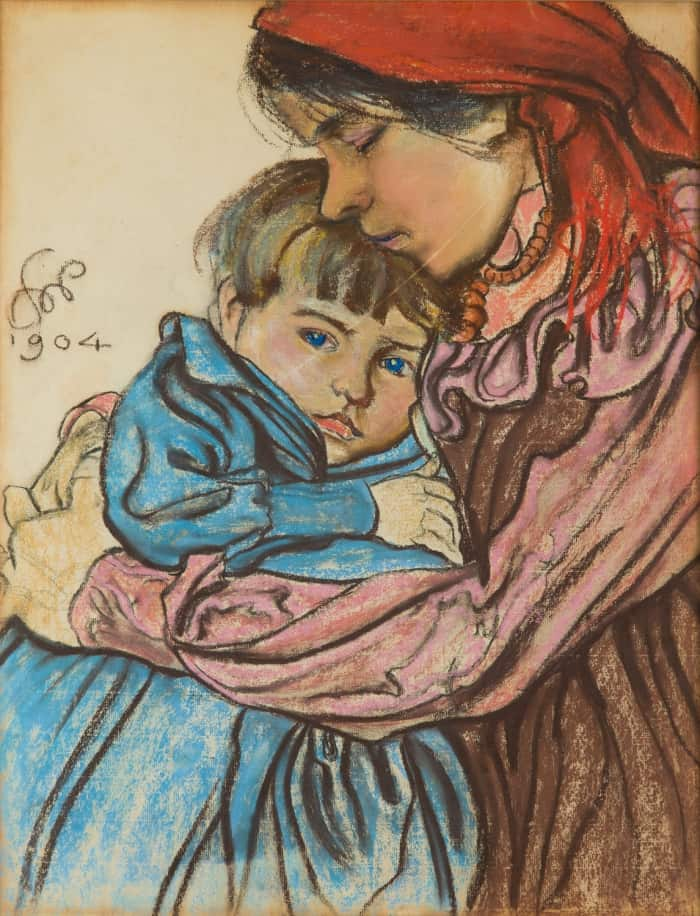 Stanislaw Wyspianski, Maternity, 1904, pastel/paper glued on board, 62 x 47.4 cm