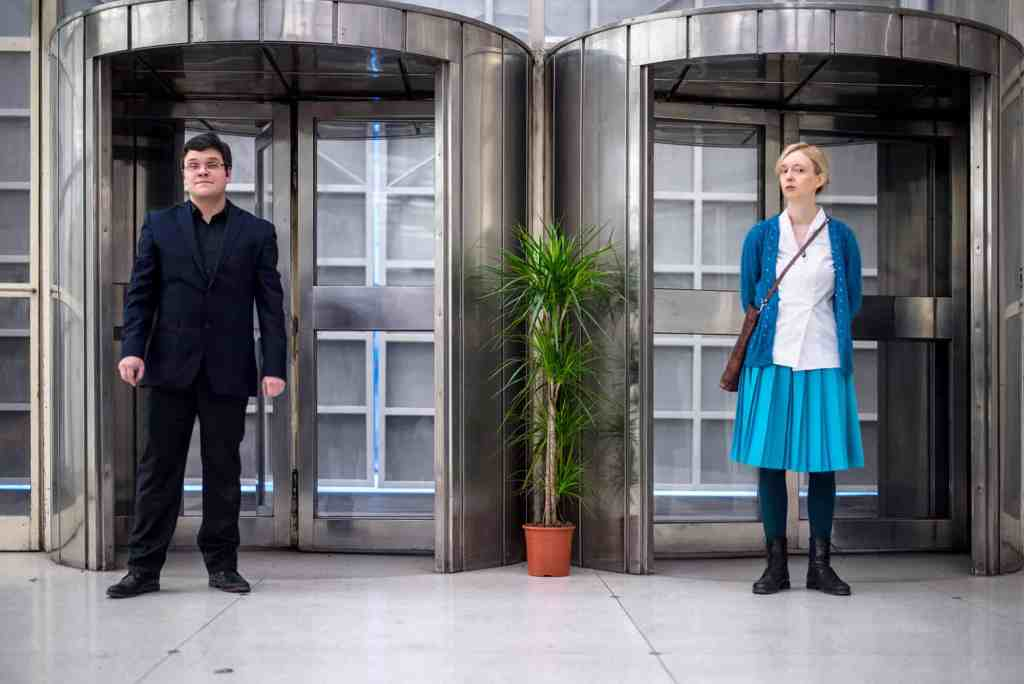 "Jakub Woynarowski, Aneta Rostkowska, ""The Strange and Terrible Saga of the Jindřich Chalupecký Award"", lecture-performance, Národní Galerie, Prague, 2017"