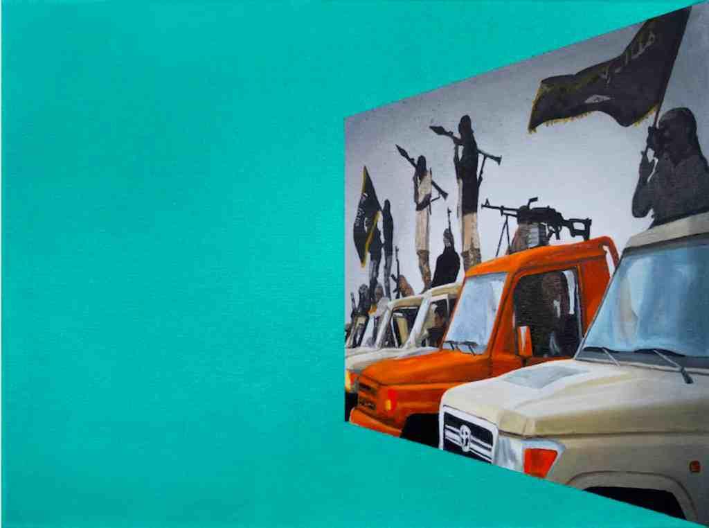 Wiktor Dyndo, CLOUD_3, the Cloud series, 2016, oil on canvas, 30x40 cm
