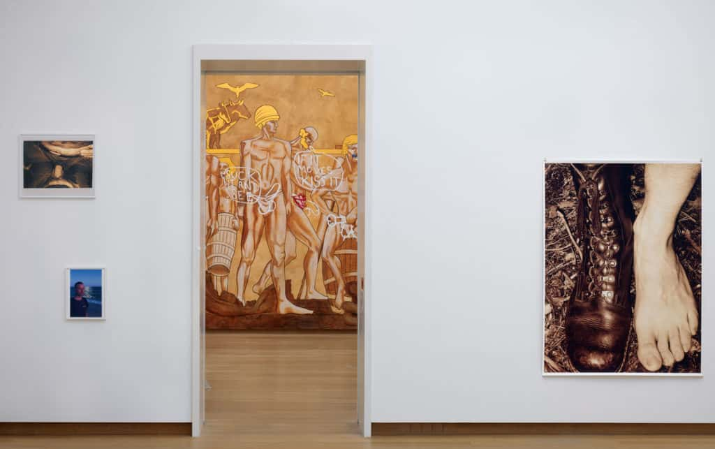 Wolfgang Tillmans, Lucy McKenzie, installation view Jump into the Future - Art from the 90's and 2000's. The Borgmann Donation. Photo: Gert Jan van Rooij