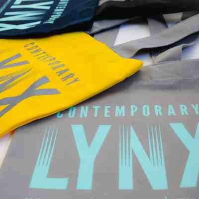 Contemporary Lynx tote bag