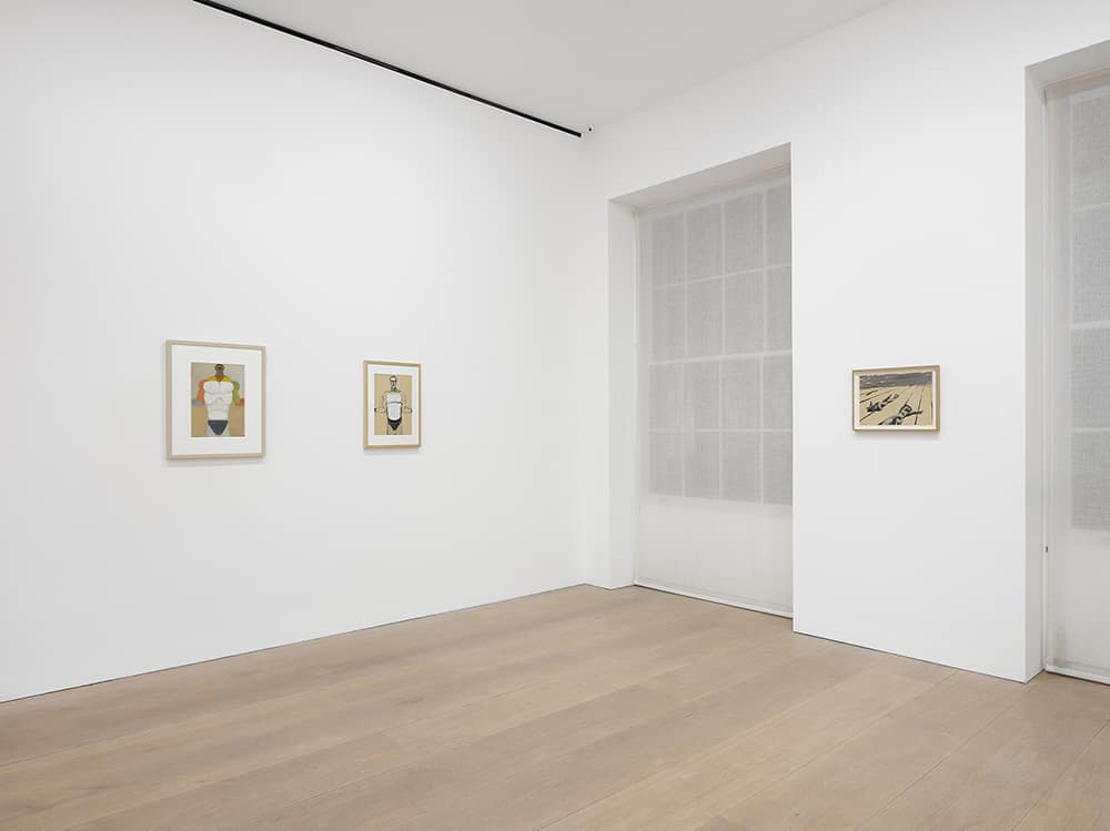 Installation view, Andrzej Wróblewski, David Zwirner, London, 2018. © Andrzej Wróblewski Foundation. www.andrzejwróblewski.pl.  Photo by Jack Hems. Courtesy David Zwirner, New York/London