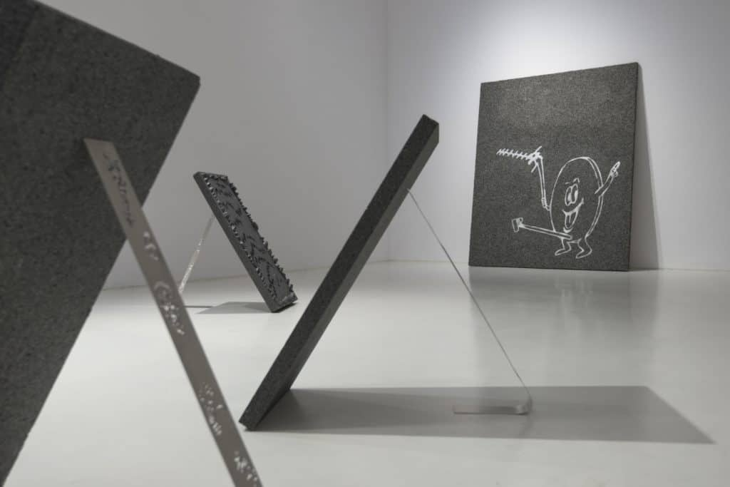 "Stachu Szumski, installation view of ""Prognosis for the era of postthermomodernization"" exhibition as part of {Bank Pekao Project Room}, 2017, Ujazdowski Castle Centre for Contemporary Art, photo by Bartosz Górka"