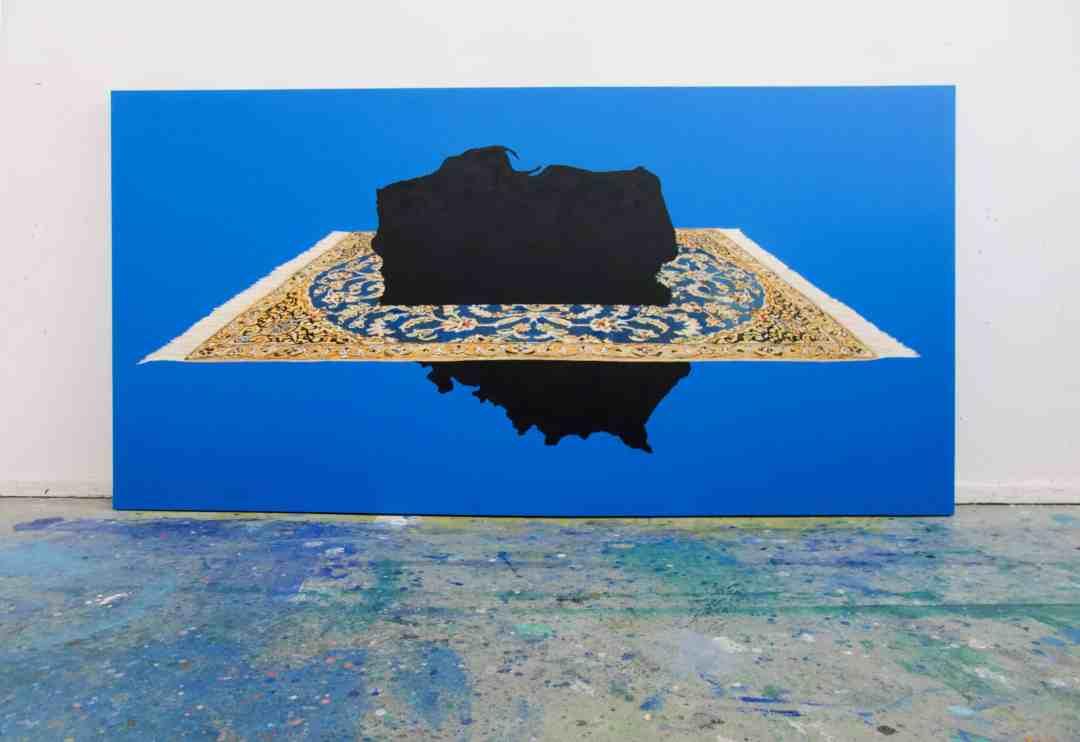 Wiktor Dyndo, A THOUSAND AND ONE NIGHTS_BLACK HOLE_100 x 200 cm, oil on canvas, 2018