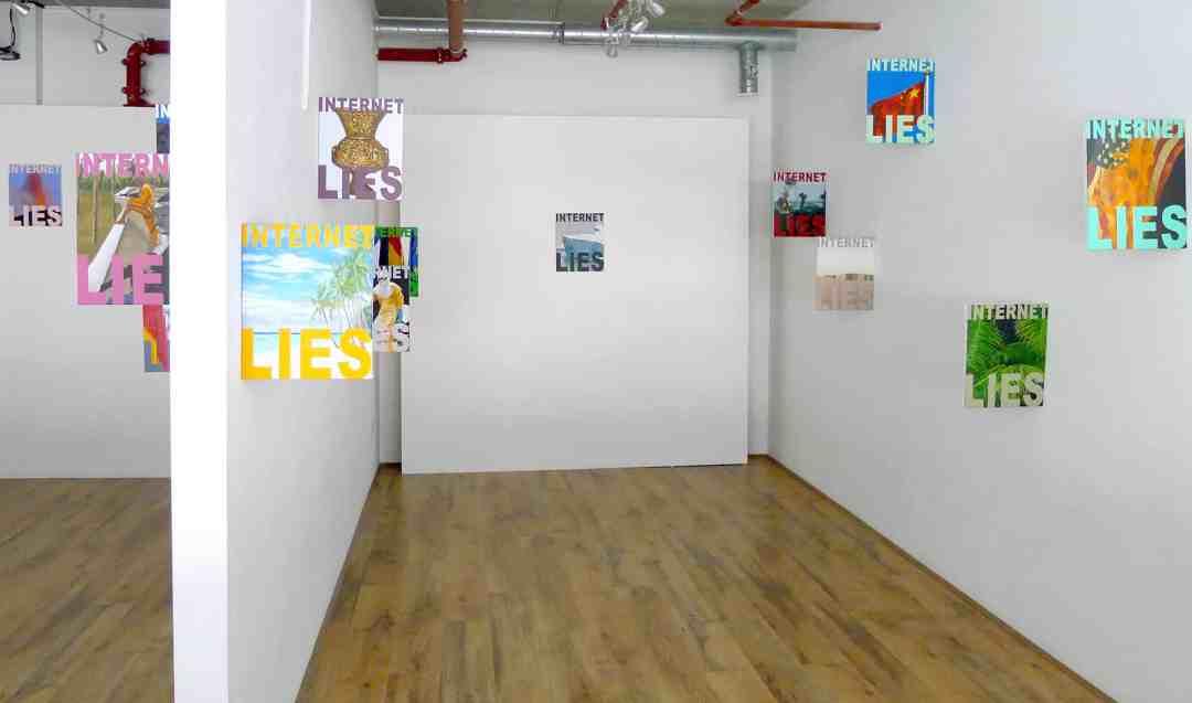 INTERNET LIES series from PROGAGANDA exhibition, Unit24 Gallery, London, UK