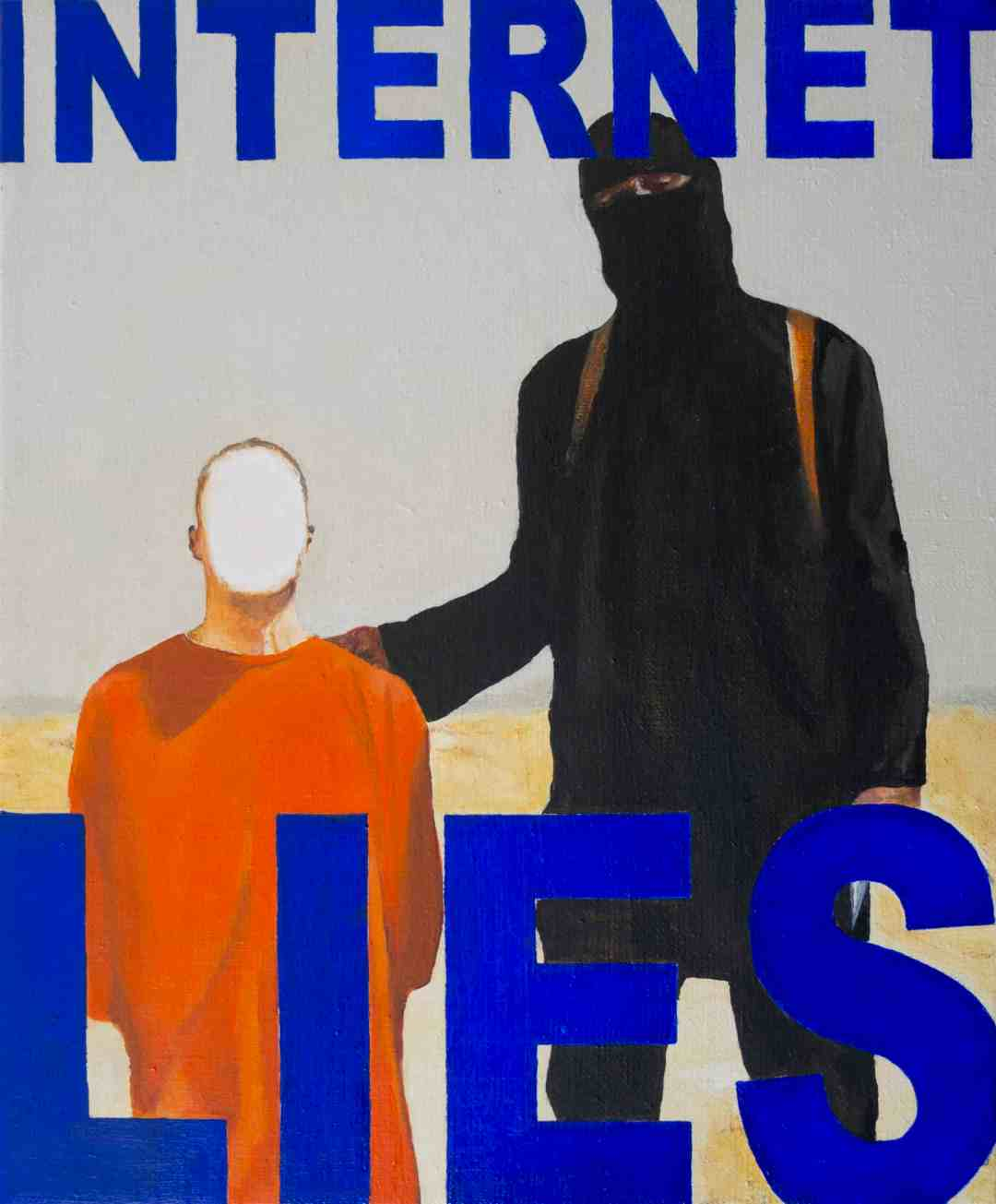 Wiktor Dyndo, INTERNET LIES 08, 40 x 33 cm, oil on canvas, 2014