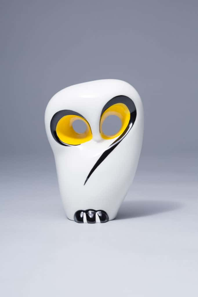 'Owl' by Hanna Orthwein. Courtesy of AS Ćmielów Porcelain Manufactory.