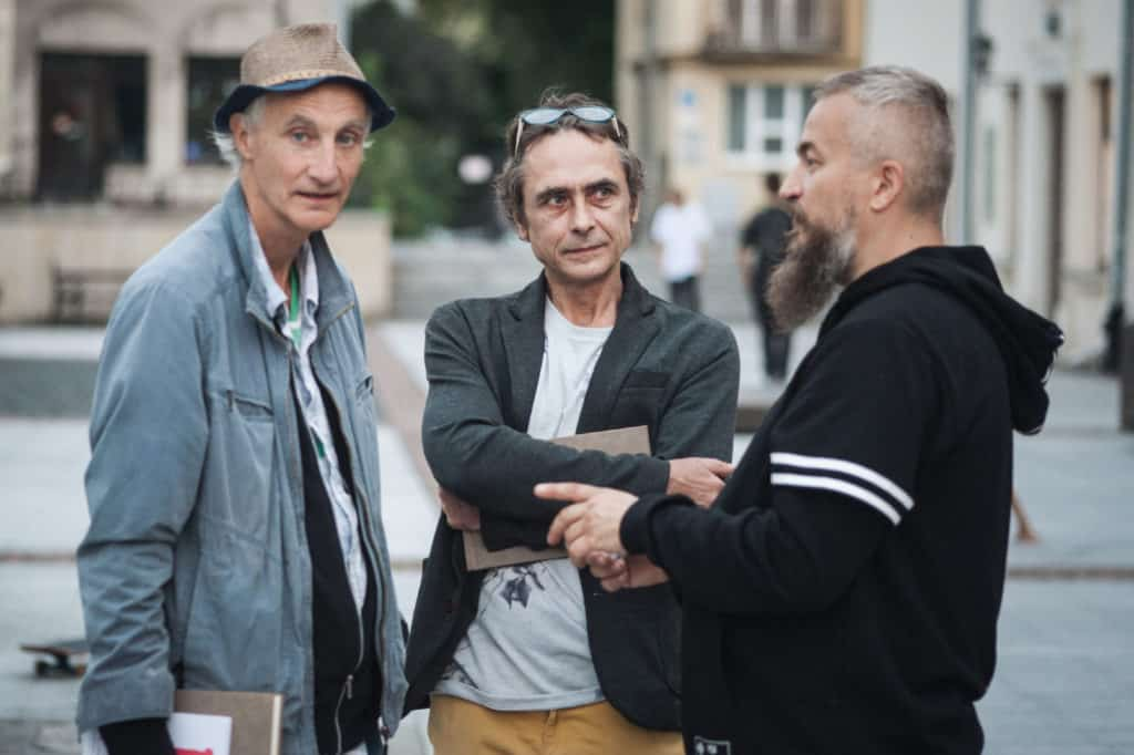 from left - Henk Visch Krzysztof Sołowiej and Robert Kuśmirowski, 10 Festival of Art in Public Spaces, Open City, Lublin