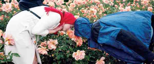 Ewa and Maria In Rose garden, Courtesy of Natalia Podgorska. Part of her series of portraits.