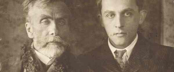 Stanisław Ignacy Witkiewicz (Witkacy) with his father, photo courtesy of the Library of Tatrzańskie Muzeum in Zakopane